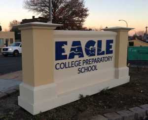 Eagle School Sign