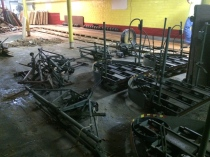Bowling alley machines