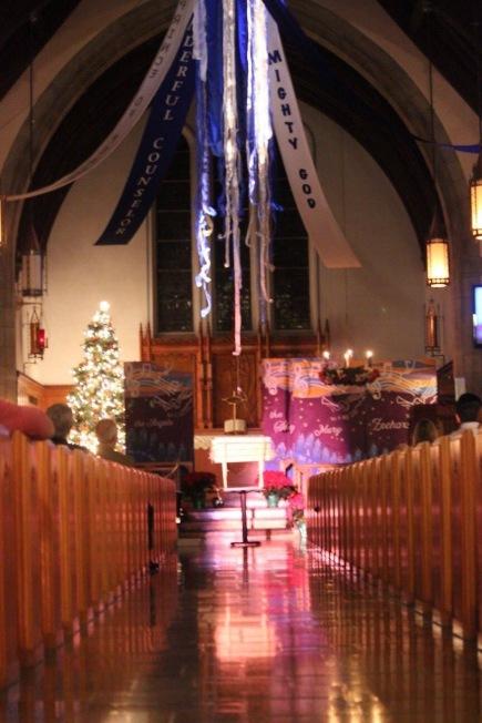Lowering the Manger Christmas eve