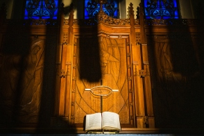 The altar at St. Johns Lutheran Church on Tuesday, April 21, 2020, in St. Louis. LCMS Communications/Erik M. Lunsford